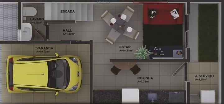 sobrado em condomínio para venda em palmas, plano diretor sul, 2 dormitórios, 2 suítes, 1 vaga - 723_2-451467