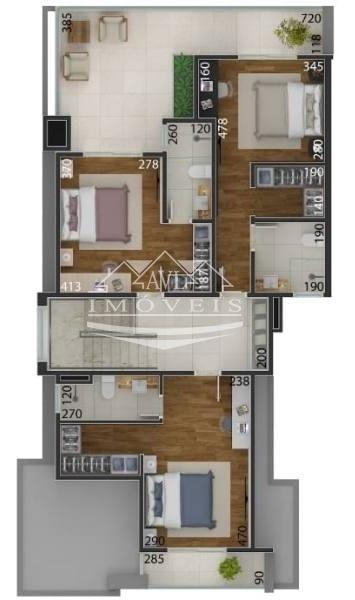 sobrado em condomínio para venda no bairro centro, 4 dorm, 4 suíte - 507