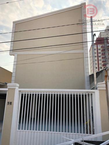 sobrado em condominio - vila esperanca - ref: 4612 - v-4612