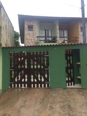 sobrado em itanhaém, 2 dormitórios, lado praia - ref 3469-p