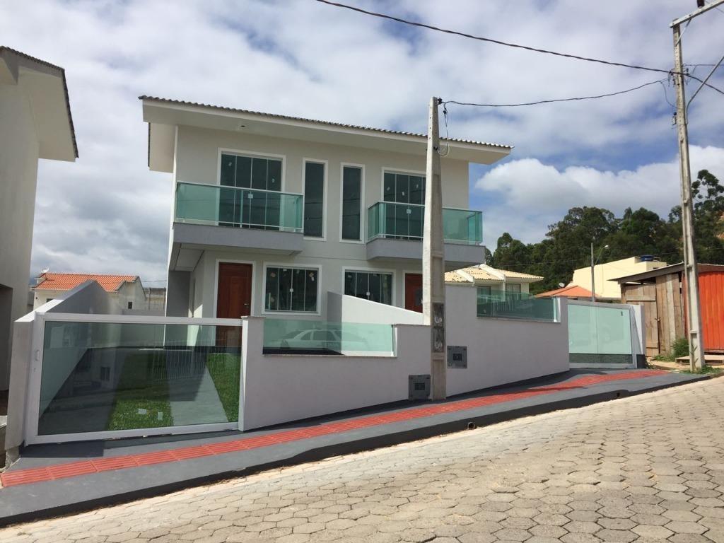 sobrado em obras - acabamento diferenciado - lot porto das águas - 600m da br101 - so0434