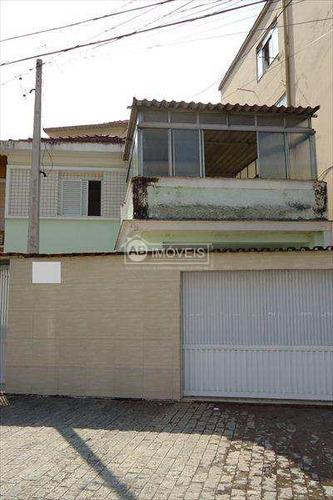 sobrado em santos bairro marapé - v1987