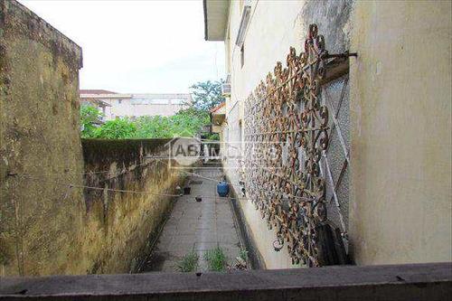 sobrado em santos bairro vila belmiro - v1736