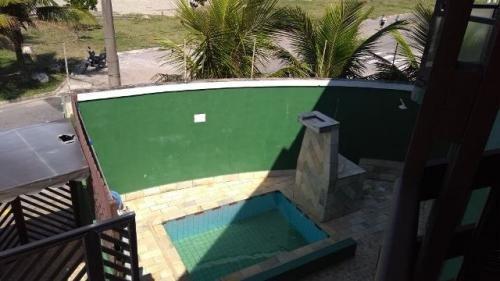 sobrado frente mar com 2 quartos, com piscina!