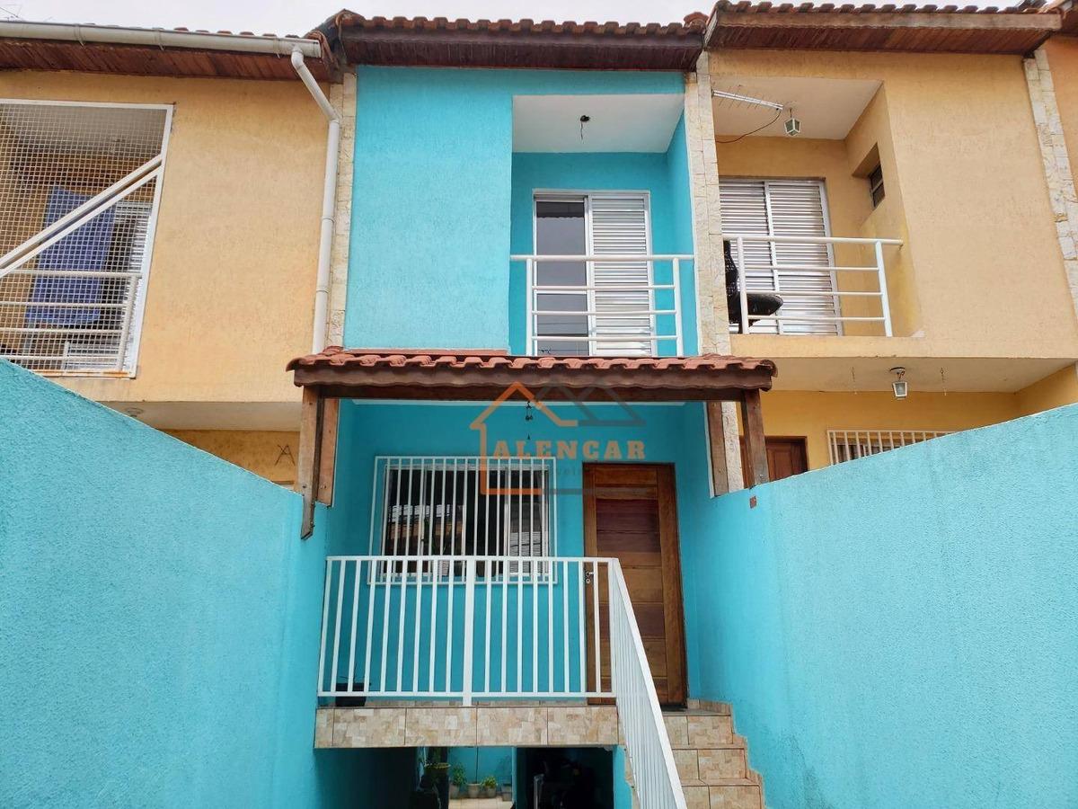sobrado frontal com 2 dormitórios sendo 2 suítes e 4 vagas de garagem cobertas à venda, 100 m² por r$ 320.000 - vila carmosina - são paulo/sp - so0158