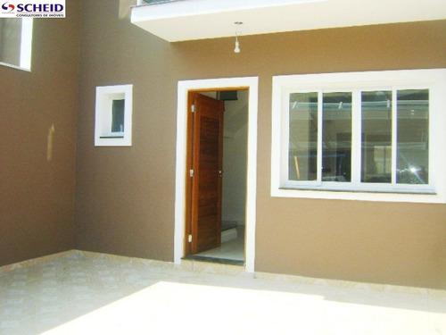 sobrado germinado com 76 m², com 3 dormitórios sendo 1 suíte, 2 vagas. - mc2022