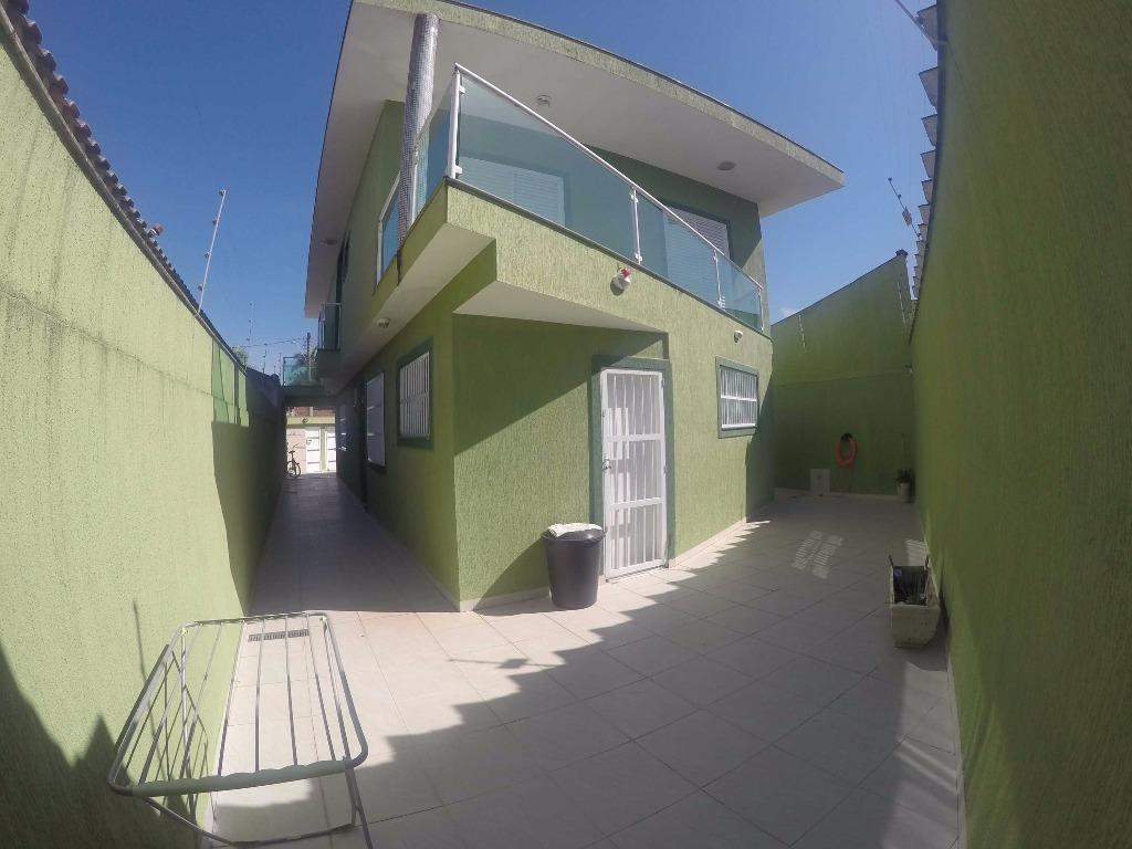 sobrado isolado 4 dormitórios e piscina,  à venda no balneário flórida em praia grande. - so0184