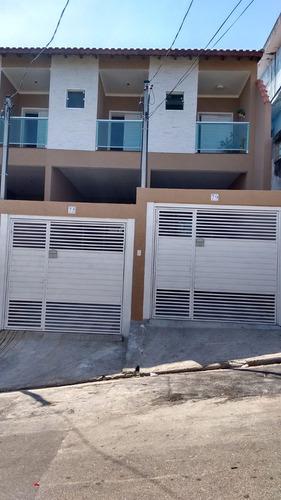 sobrado novo 3 dormitórios 1 suíte 2 vagas a 100 m do metrô