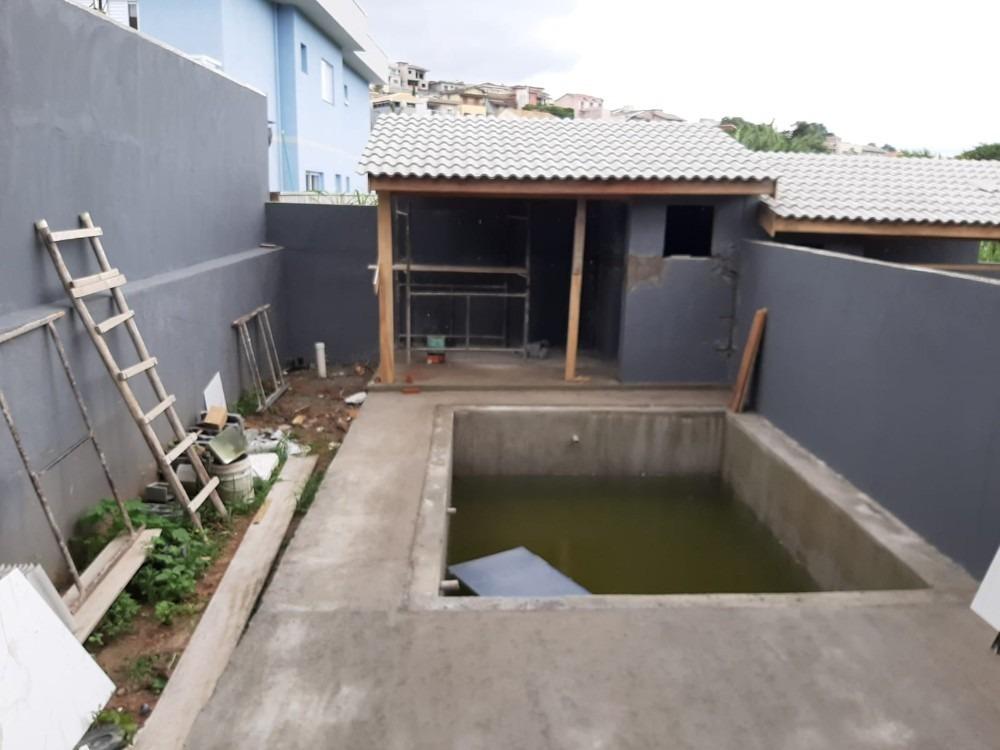 sobrado novo com 2 suites, piscina e área gourmet - atibaia