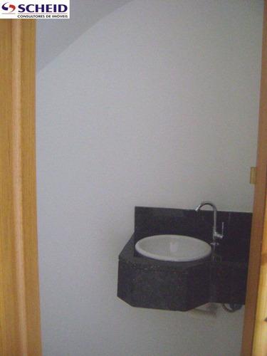 sobrado novo com 3 suítes, sala, lavabo, cozinha, quintal, churrasqueira. - mc1331