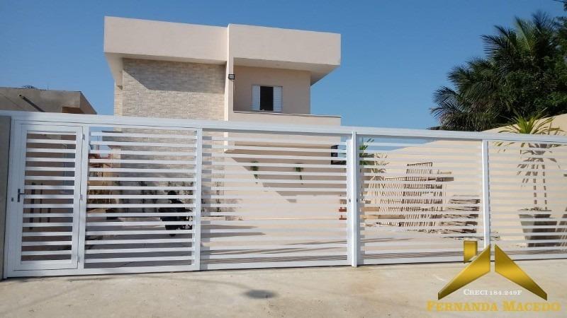 sobrado novo em condomínio fechado, lado praia, com piscina privativa para minha casa minha vida - ca00035 - 34123683
