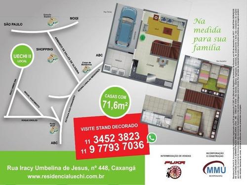 sobrado para venda em suzano, caxangá, 2 dormitórios, 2 suítes, 2 banheiros, 1 vaga - ca00077