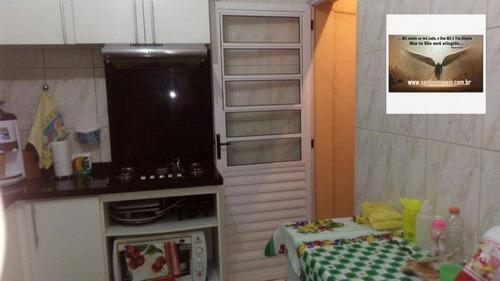 sobrado residencial de 79 m² com 02 dormitórios (sendo 02 suítes) à venda, jardim utinga, santo andré. - so0178