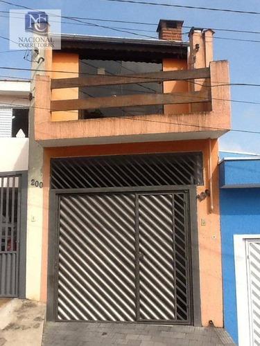 sobrado residencial à venda, condomínio maracanã, santo andré. - so3075