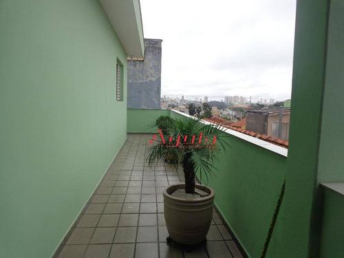 sobrado residencial à venda, jardim santo antônio, santo andré - so0626. - so0626