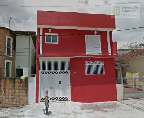 sobrado residencial à venda, vila alzira, santo andré - so0288. - so0288