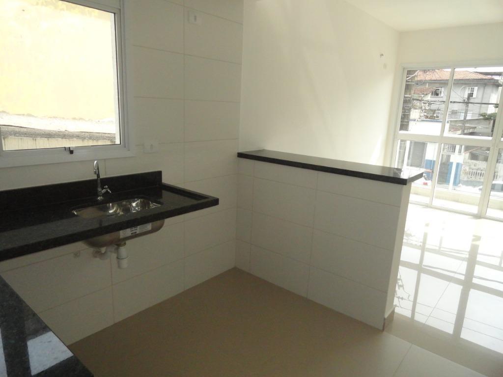 sobrado à venda, 101 m² por r$ 475.000,00 - estuário - santos/sp - so0497