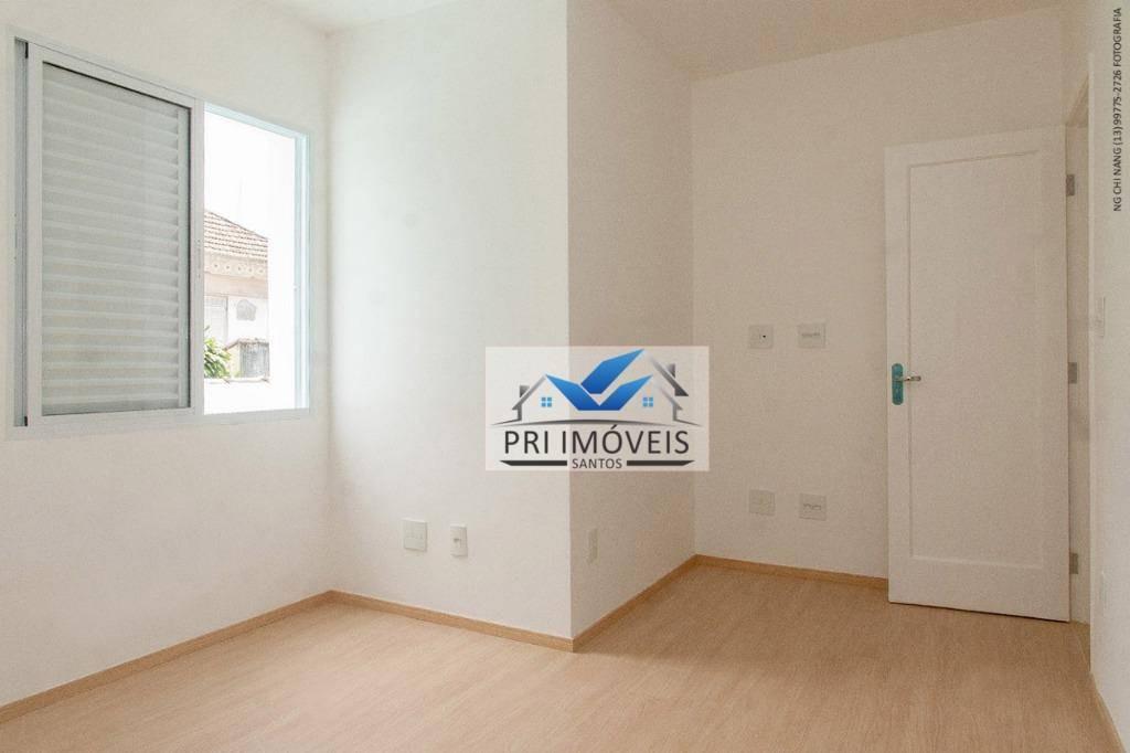 sobrado à venda, 120 m² por r$ 435.000,00 - macuco - santos/sp - so0026