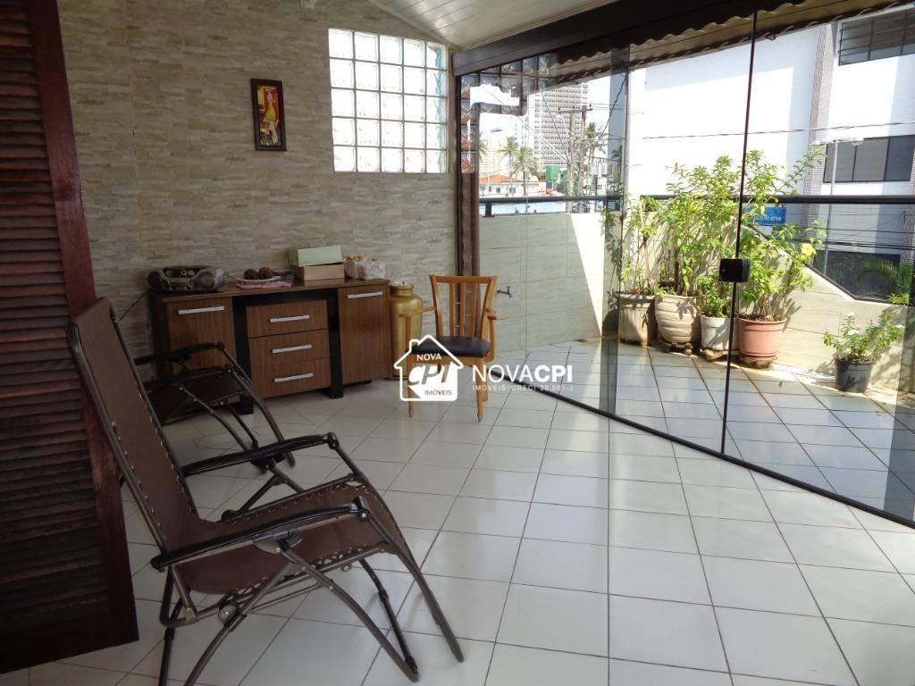 sobrado à venda, 203 m² por r$ 550.000,00 - boqueirão - praia grande/sp - so0396