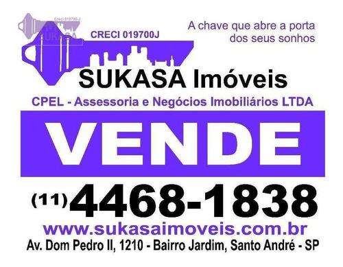 sobrado à venda, 372 m² por r$ 960.000,00 - vila pires - santo andré/sp - so0146