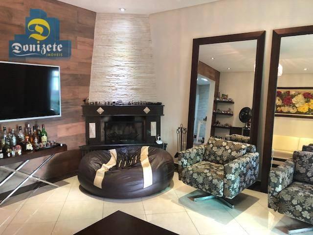 sobrado à venda, 410 m² por r$ 2.195.000,00 - jardim - santo andré/sp - so1956