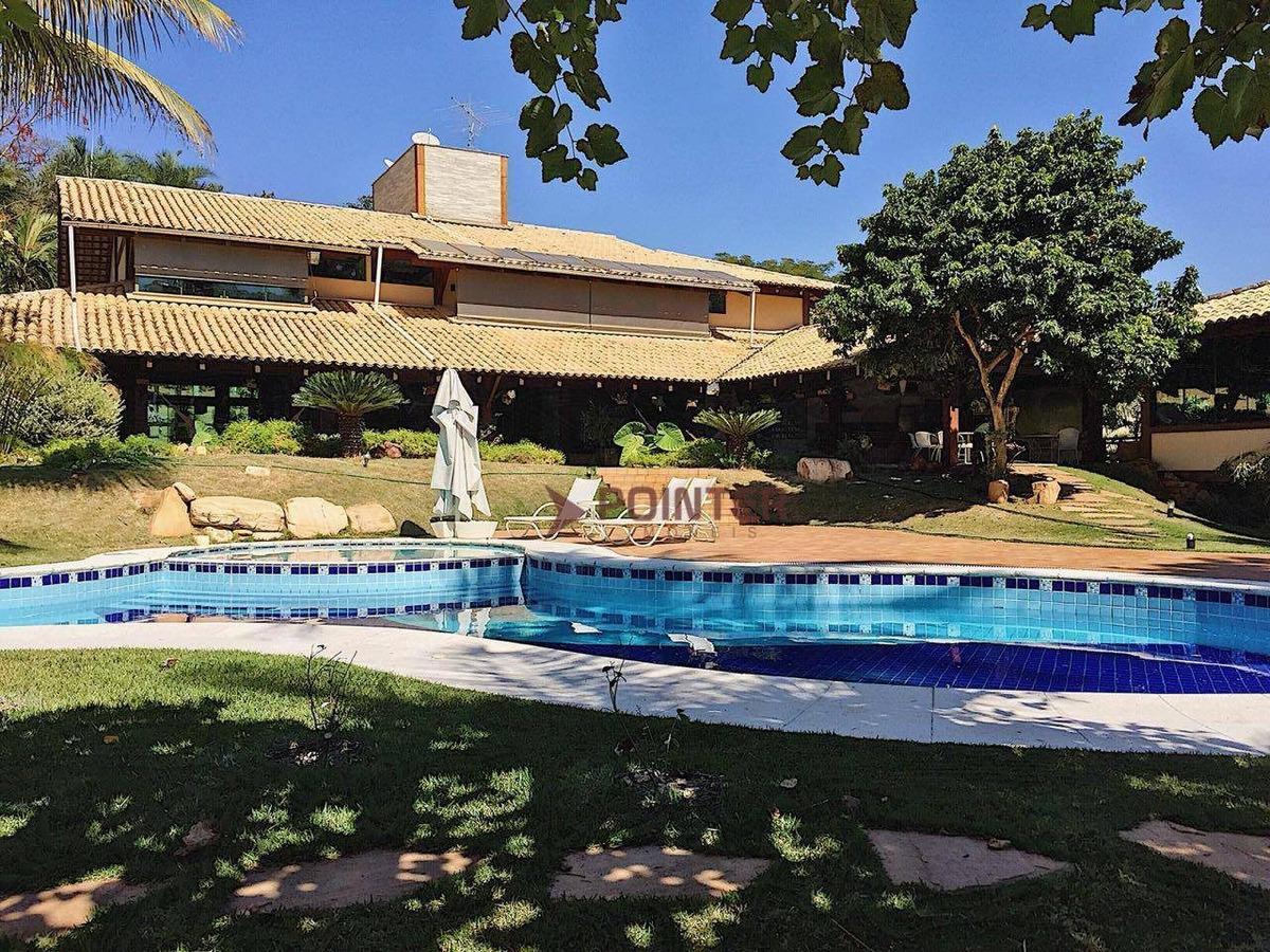 sobrado à venda, 840 m² por r$ 6.500.000 - residencial aldeia do vale - goiânia/go - so0003
