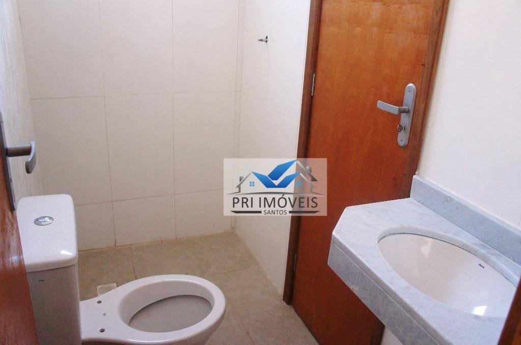 sobrado à venda, 90 m² por r$ 480.000,00 - marapé - santos/sp - so0012