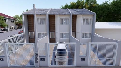 sobrados com 2 dormitórios, cozinha, sala de estar, banheiro social, lavabo e área de serviço.vaga de garagem para 2 carros. valores a partir de 210 mil reais. pode ser financiado pelo programa minha