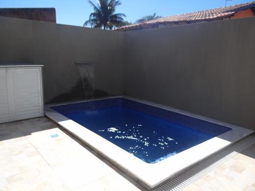 sobrados com piscina individuais em itanhaém ref 6433 c
