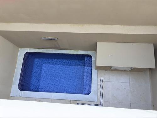 sobrados novos lado praia com 2 dormitórios e piscina
