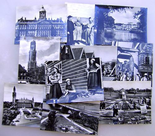 sobre 10 postales souvenir de holanda c1950-60 - no envío