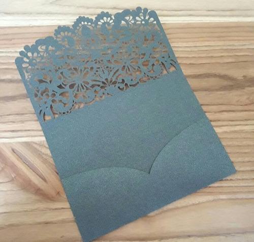 sobre calado para invitaciones tarjetas 15 casamiento