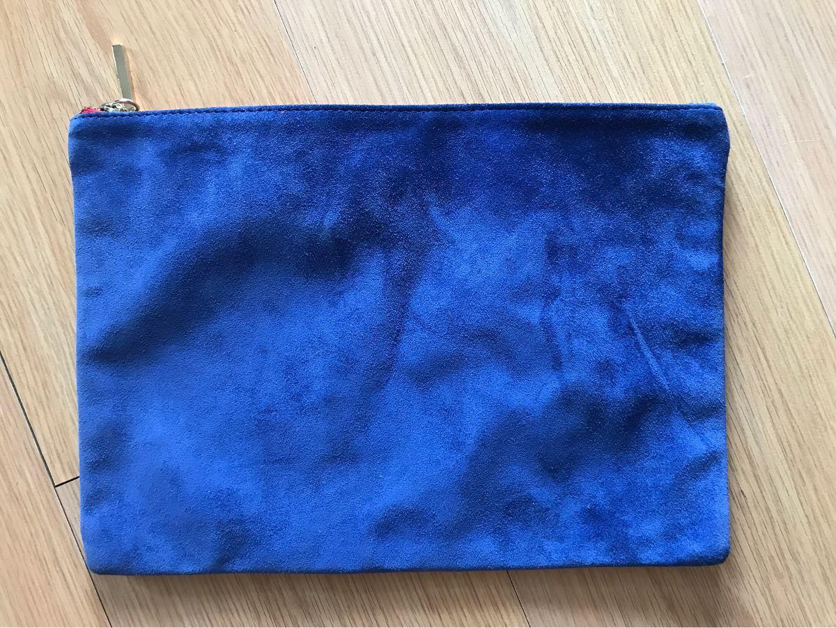 178201f98 Sobre Cartera De Gamuza Azul Paris By Flor Monis - $ 835,00 en ...