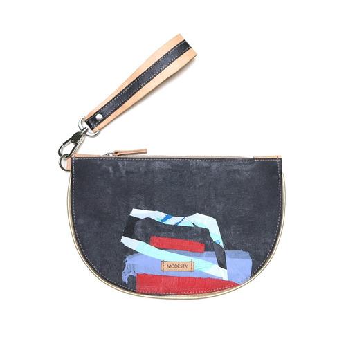 sobre clutch modesta® - diseño único -  eco-friendly - negro