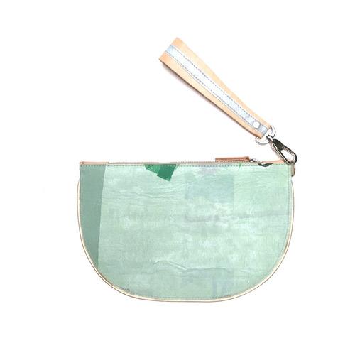 sobre clutch modesta® - reciclado - único - verde claro
