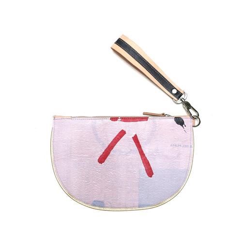 sobre clutch modesta® - único - eco-friendly - rosa claro