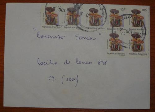 sobre con sellos de hongos gj 2669