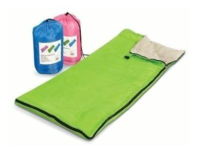 sobre de dormir niños 140 x 60 cm-- acampar- azul