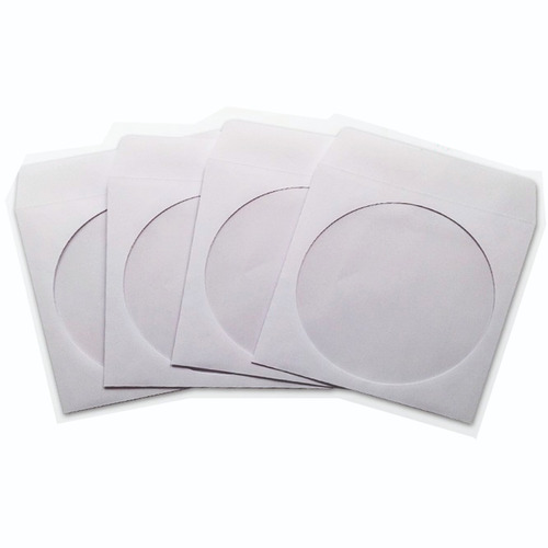 sobre de papel para cd, dvd x 100 unidades