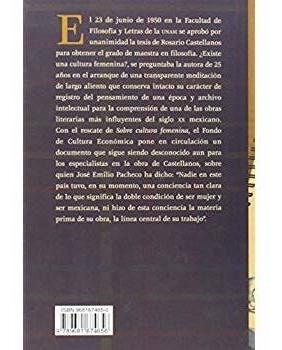 sobre la cultura femenina (literatura) ( edición español )