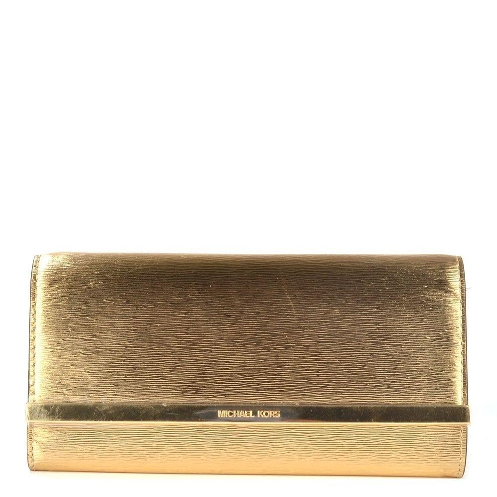 2c825e5912270 ... sobre michael kors clutch original dorado nuevo. Cargando zoom.