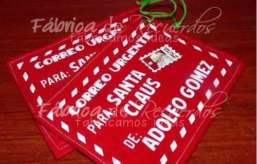 sobre navideño personalizado para la cartita- envío gratis