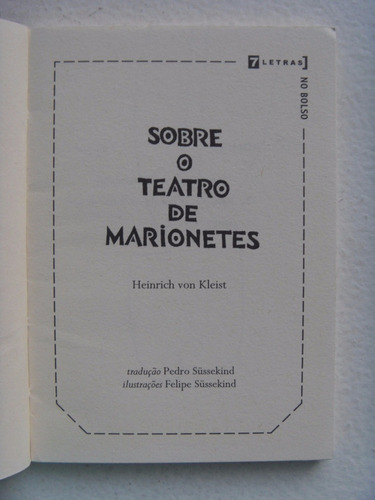 sobre o teatro de marionetes heinrich von kleist 7 letras