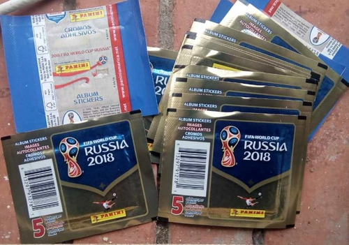sobre  panini  mundial rusia 2018, hecho en italia
