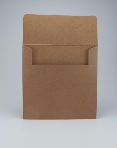 sobre papel madera kraft misionero 15x15 cm cuadrado cod mk