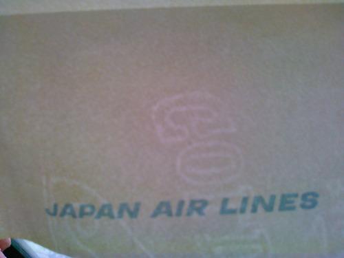 sobre postal de japan air line con hoja