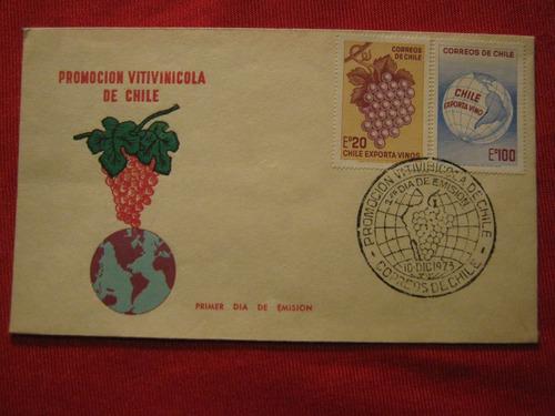 sobre primer día 1973 promoción vitivinícola de chile