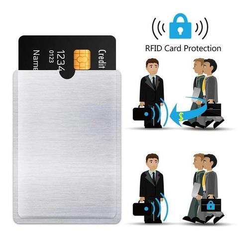 sobre protector bloqueo anti robo tarjeta rfid credito debit