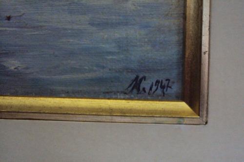 sobre tela quadro óleo