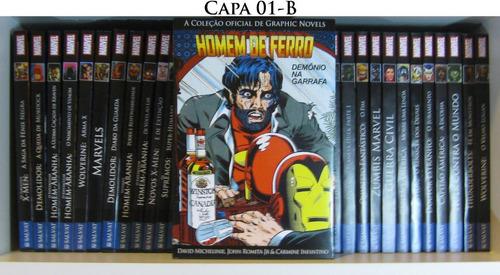 sobrecapas coleção graphic novels marvel - salvat